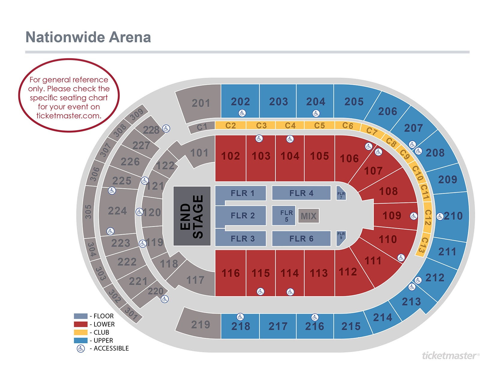 Seating charts nationwide arena