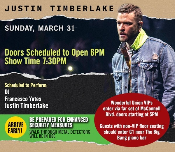 Justin Timberlake is coming to Nationwide Arena Sunday!