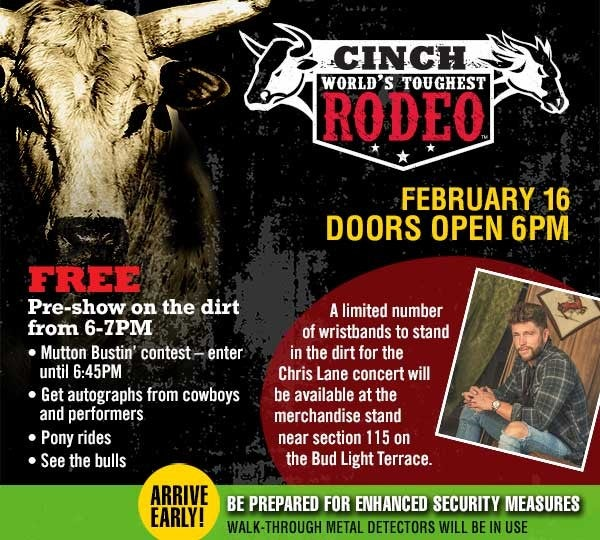 Doors Open at 6PM for the Rodeo